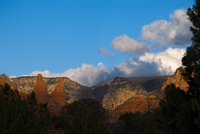 Moon Over Sedona, Moonrise, Sedona AZ, Southwest, Red Rock, Photograph by Victor Cariri