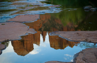 Cathedral Rock, Red Rock Crossing, Crescent Moon Park, Oak Creek,  Sedona AZ, Southwest, Red Rock, reflection, Photograph by Victor Cariri