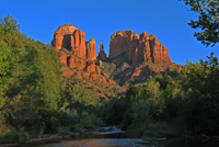 Cathedral Rock, Red Rock Crossing, Crescent Moon Park, Oak Creek,  Sedona AZ, Southwest, Red Rock, Photograph by Victor Cariri